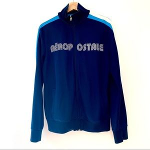 Aeropostale Full Zip Old School Nod Track Jacket